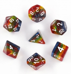 Starlit Rainbow Dice Set 7pc for Role Playing Game