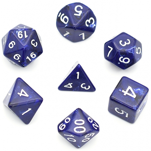 Blue Clouds Acrylic Dice Polyhedral Dice Set  DND Dice for Dungeons and Dragons MTG RPG Toptable Game