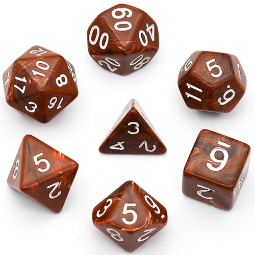 Coffee Clounds Acrylic Dice Polyhedral Dice Set  DND Dice for Dungeons and Dragons MTG RPG Toptable Game