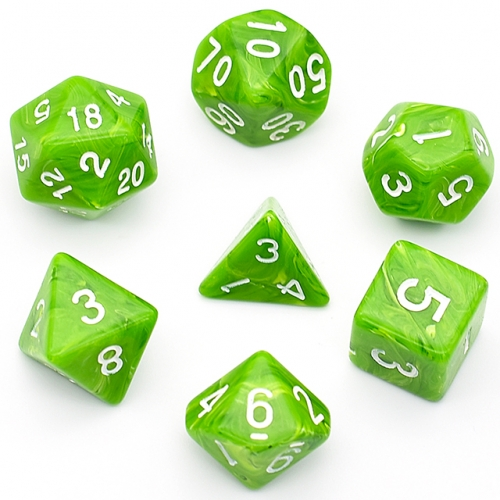 Green Clounds Acrylic Dice Polyhedral Dice Set  DND Dice for Dungeons and Dragons MTG RPG Toptable Game