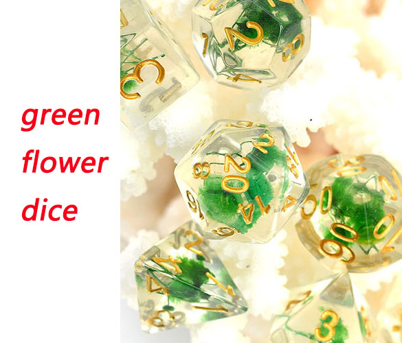 green flower dice